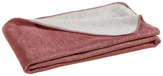 WOHNDECKE 150/200 cm - Silberfarben/Rosa, Basics, Textil (150/200cm) - Novel