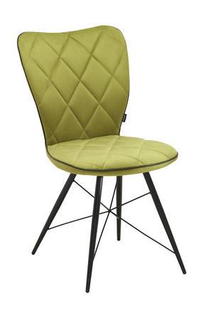 STOL - grön/svart, Design, metall/textil (49/90/61cm) - Hom`in