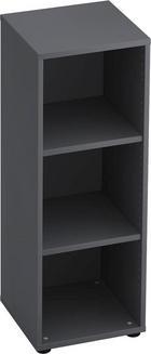 REGAL Graphitfarben - Graphitfarben/Schwarz, KONVENTIONELL, Holzwerkstoff/Kunststoff (40/110/40cm)