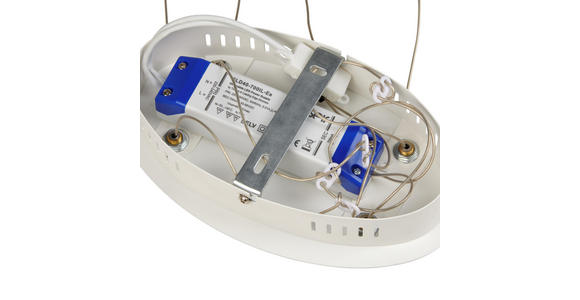 LED-HÄNGELEUCHTE 78/25/120 cm  - Opal/Weiß, Design, Kunststoff/Metall (78/25/120cm) - Ambiente