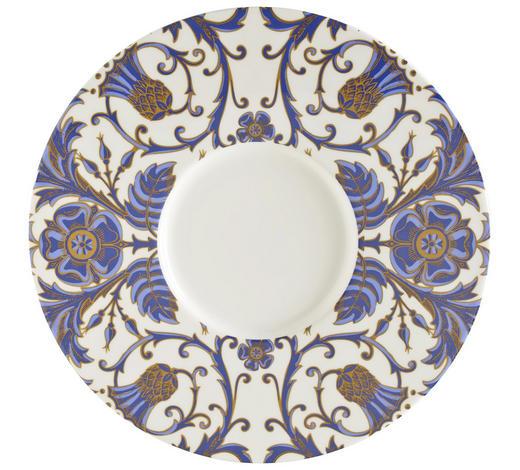 PLATZTELLER  30,2 cm - Blau/Goldfarben, Basics, Keramik (30,2cm) - Novel