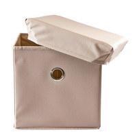 BOX NA HRAČKY - šedohnědá, Trend, dřevo/textil (32/32/32cm) - My Baby Lou