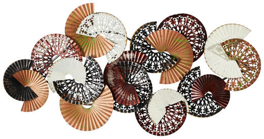 WANDDEKO Metall - Multicolor, Basics, Metall (148/85,5/8,5cm) - Ambia Home