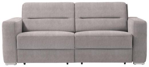 SCHLAFSOFA in Textil Hellgrau - Hellgrau, KONVENTIONELL, Textil/Metall (202/86/92cm) - Sedda