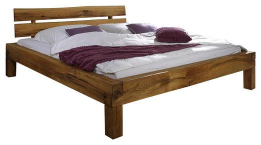 BALKENBETT Wildeiche massiv 140/200 cm - Trend, Holz (140/200cm) - Linea Natura