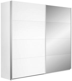 SKJUTDÖRRSGARDEROB - vit/silver, Design, metall/glas (226/210/62cm) - Carryhome
