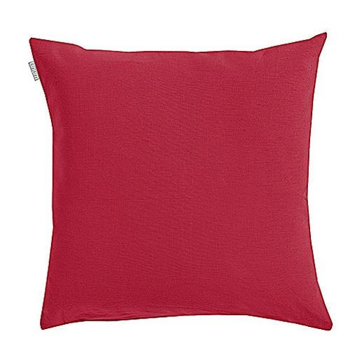 KISSENHÜLLE Bordeaux 50/50 cm - Bordeaux, Basics, Textil (50/50cm) - Linum