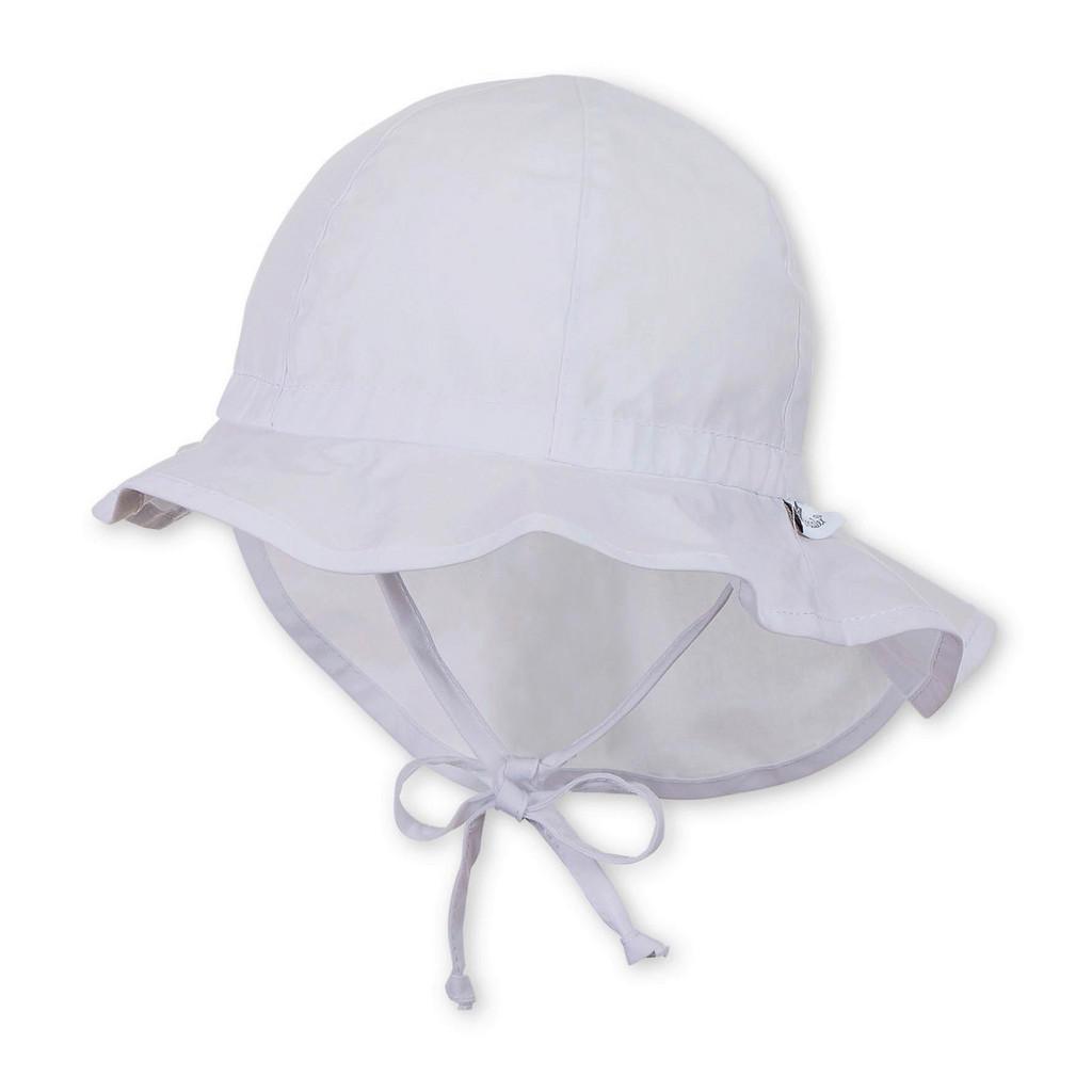 Sterntaler Hut mit Nackenschutz Weiß 49
