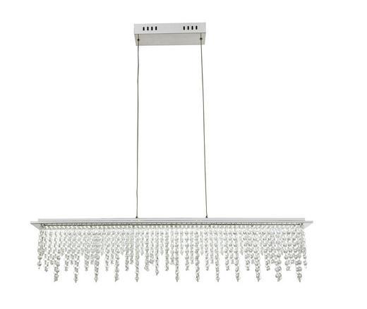 LED-HÄNGELEUCHTE - Klar, LIFESTYLE, Glas/Metall (90/11/150cm) - Novel