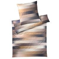 BETTWÄSCHE Makosatin Braun, Goldfarben 135/200 cm - Goldfarben/Braun, Textil (135/200cm) - Joop!