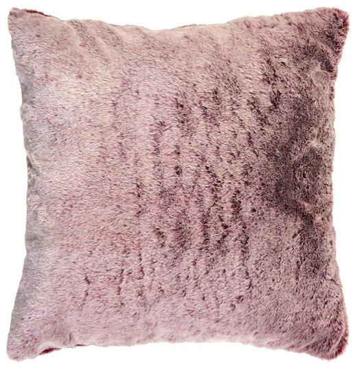 Fellkissen 48/48 cm - Bordeaux, Basics, Textil (48/48cm) - Novel