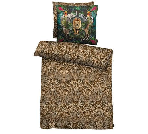 BETTWÄSCHE Satin Braun, Multicolor  - Multicolor/Braun, Trend, Textil (155x220cm) - Ambiente