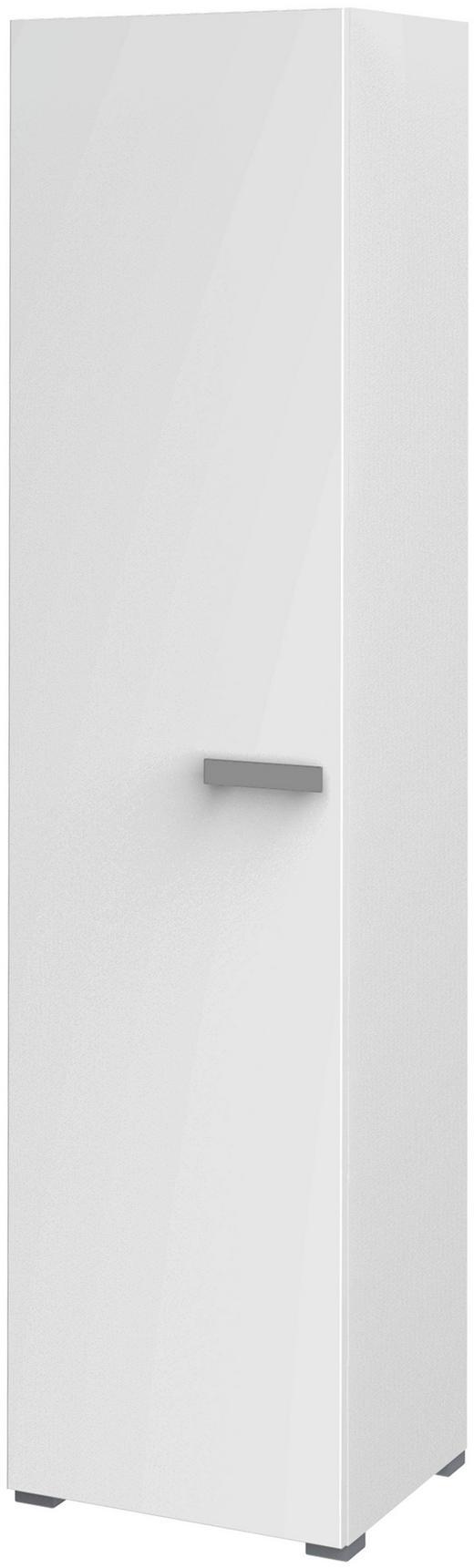 SCHRANK 1-türig Weiß - Silberfarben/Weiß, Design, Holzwerkstoff/Metall (50/216,4/44,3cm) - Xora