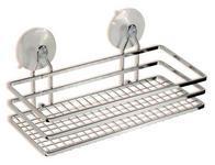 Duschregal 1 Ablage Rechteckig 25x10cm Milano - Silberfarben, KONVENTIONELL, Metall (25/10/11,5cm) - Ombra