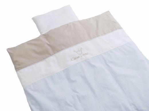 KINDERBETTWÄSCHE Blau, Weiß 80/80 cm - Blau/Weiß, Basics, Textil (80/80cm) - BEBE'S COLLECTION