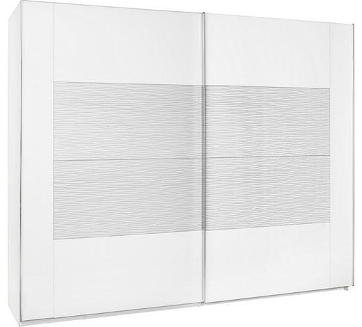 SCHWEBETÜRENSCHRANK in Weiß  - Chromfarben/Weiß, Design, Glas/Holzwerkstoff (270/223/69cm) - Xora