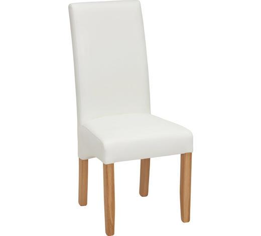 ŽIDLE, bílá, barvy dubu - bílá/barvy dubu, Konvenční, dřevo/textil (47/107/64cm) - Carryhome