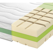 KALTSCHAUMMATRATZE ROAD 290 COMFEEL PLUS 90/200 cm 24 cm - Weiß, Basics, Textil (90/200cm) - Schlaraffia