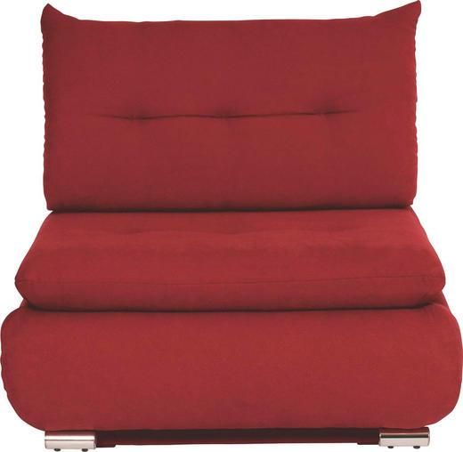 SCHLAFSESSEL Rot - Chromfarben/Rot, Design, Textil/Metall (94/86/83cm) - NOVEL