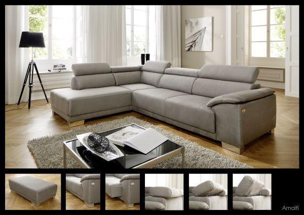 SJEDEĆA GARNITURA - boje kroma/smeđa, Design, drvni materijal/tekstil (205/290cm) - PURE HOME LIFESTYLE