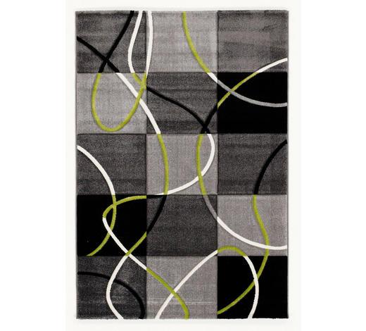 WEBTEPPICH  80/150 cm  Grün, Schwarz - Schwarz/Grün, Basics, Textil (80/150cm) - Novel