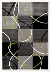 WEBTEPPICH  65/130 cm  Grün, Schwarz - Schwarz/Grün, Textil (65/130cm) - Novel