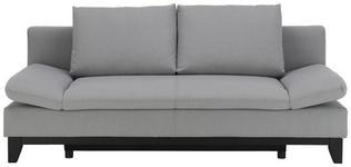 SCHLAFSOFA in Textil Grau  - Schwarz/Grau, MODERN, Holz/Textil (204/88/89cm) - Carryhome