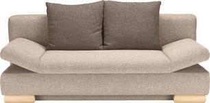 SCHLAFSOFA in Beige, Braun Textil - Beige/Braun, LIFESTYLE, Holz/Textil (195/75/90/145cm) - Novel