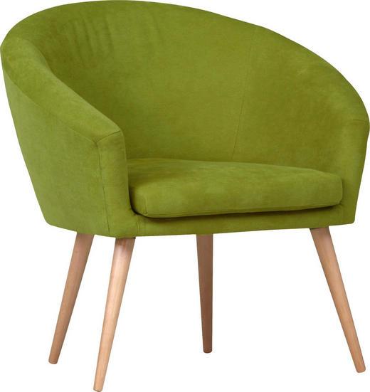 SESSEL - Naturfarben/Grün, Design, Holz/Textil (73/73/66cm) - Carryhome
