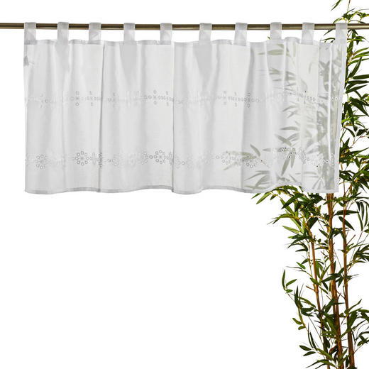 KURZGARDINE   140/45 cm - Weiß, Basics, Textil (140/45cm) - Esposa
