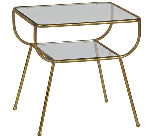 BEISTELLTISCH in Metall, Glas 47/40,5/47 cm - Messingfarben, Trend, Glas/Metall (47/40,5/47cm) - Ambia Home