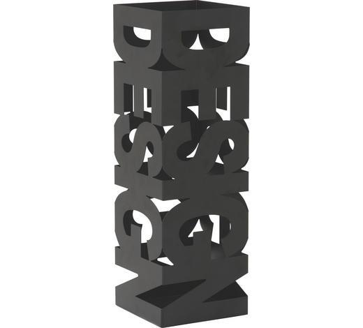 SCHIRMSTÄNDER - Schwarz, Design, Metall (16/48/16cm)