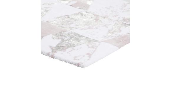BADEMATTE  60/60 cm  Weiß, Flieder   - Flieder/Weiß, Design, Textil (60/60cm) - Ambiente