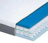 TASCHENFEDERKERNMATRATZE MONA 3000 90/200 cm 19 cm - Anthrazit/Weiß, Basics, Textil (90/200cm) - Dieter Knoll
