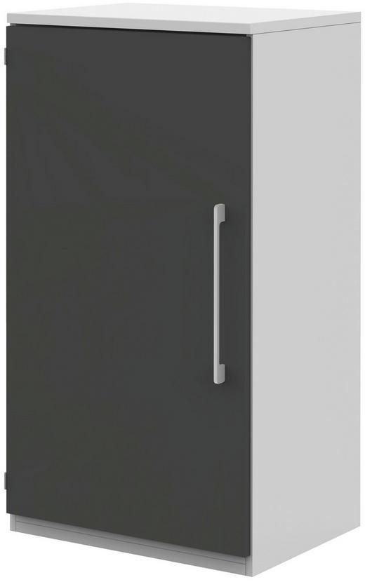 AKTENSCHRANK - Anthrazit/Weiß, Design, Holzwerkstoff (60/111,7/43cm)