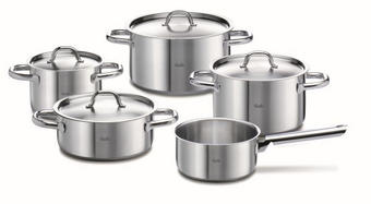 SADA HRNCŮ NA VAŘENÍ - barvy stříbra, Basics, kov (1cm) - Fissler