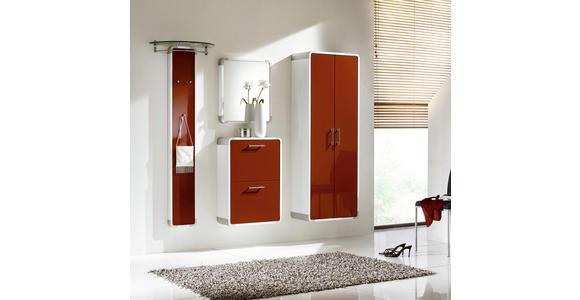 GARDEROBENSCHRANK 60/164/32 cm  - Chromfarben/Rot, Design, Holzwerkstoff/Metall (60/164/32cm) - Moderano