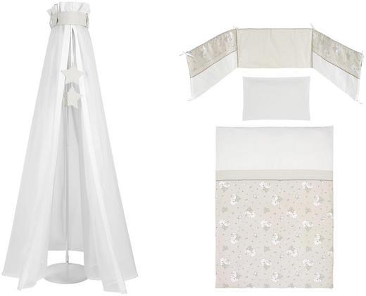 GITTERBETTSET Silber Bär Taupe, Weiß - Taupe/Weiß, Basics, Textil - My Baby Lou