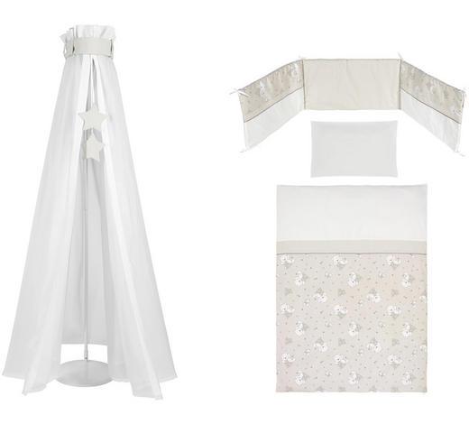 SADA DO DĚTSKÉ POSTÝLKY - bílá/šedohnědá, Basics, textilie - My Baby Lou