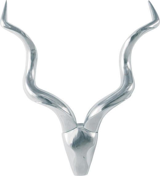 DEKOSCHÄDEL - Silberfarben, Design, Metall (90/108/15cm)