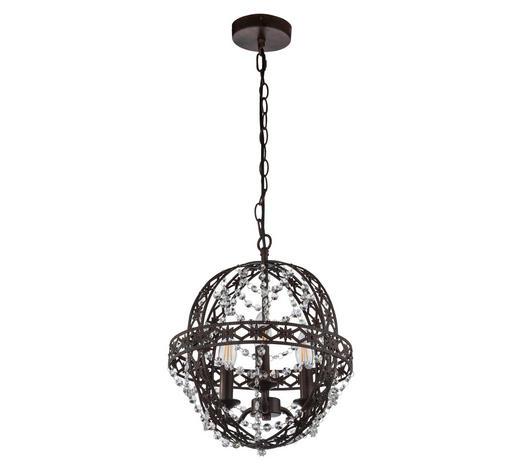 HÄNGELEUCHTE - Klar/Rostfarben, KONVENTIONELL, Glas/Metall (34/122cm)