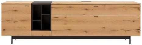 LOWBOARD 227/68,8/49,5 cm  - Eichefarben/Anthrazit, Natur, Holz/Holzwerkstoff (227/68,8/49,5cm) - Moderano