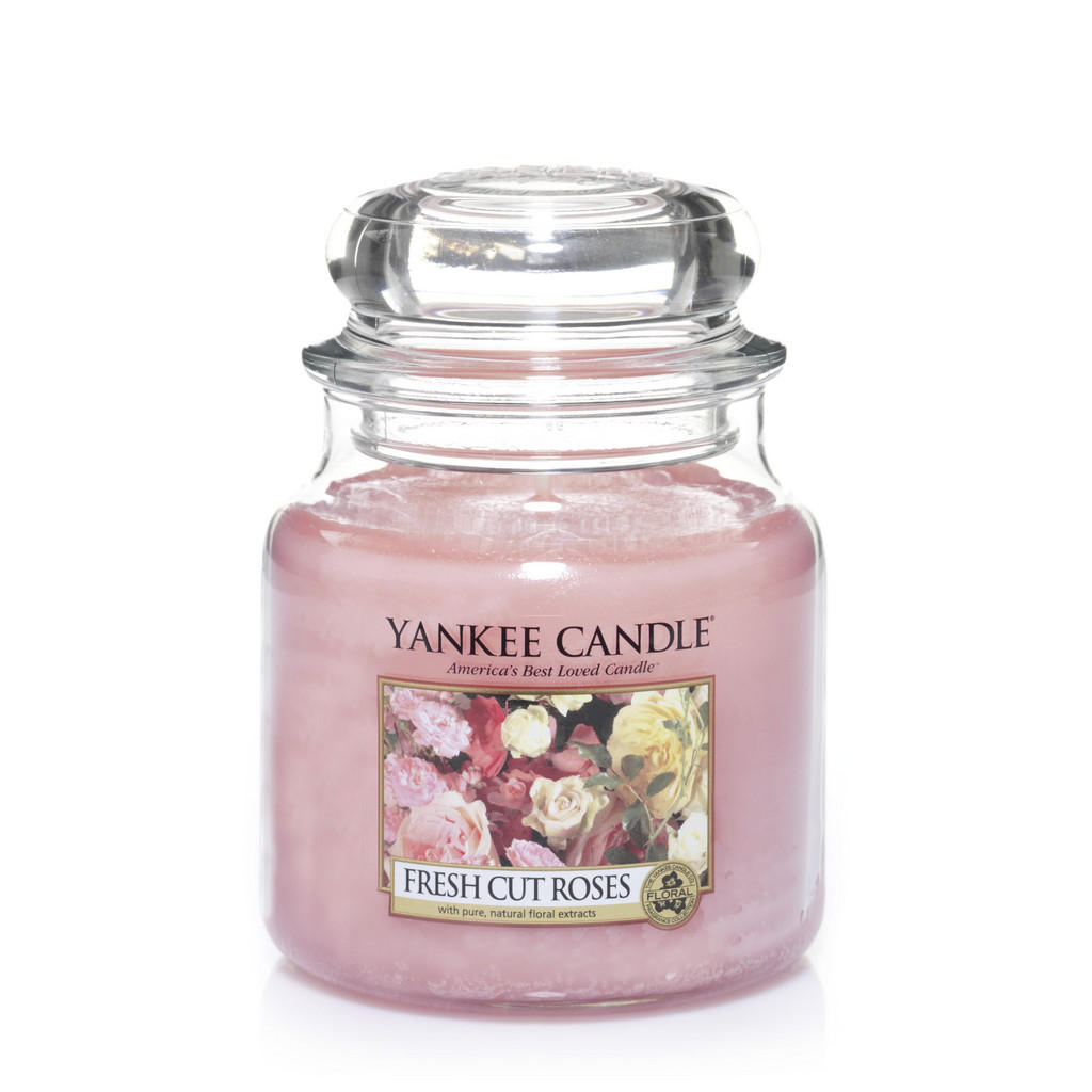 Yankee Candle Duftkerze yankee candle fresh cut roses