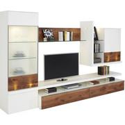 DNEVNI REGAL  bela, oreh - oreh/črna, Design, kovina/umetna masa (325/197/56cm) - Moderano