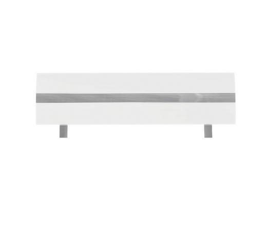 KOPFTEIL  146/52 cm Weiß  - Weiß, Design (146/52cm) - Xora