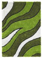 TEPIH VISOKOG FLORA - zelena, Design, tekstil (120/170cm) - NOVEL