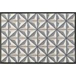 FUßMATTE 50/75 cm Graphik Grau, Beige  - Beige/Grau, Basics, Kunststoff/Textil (50/75cm) - Esposa