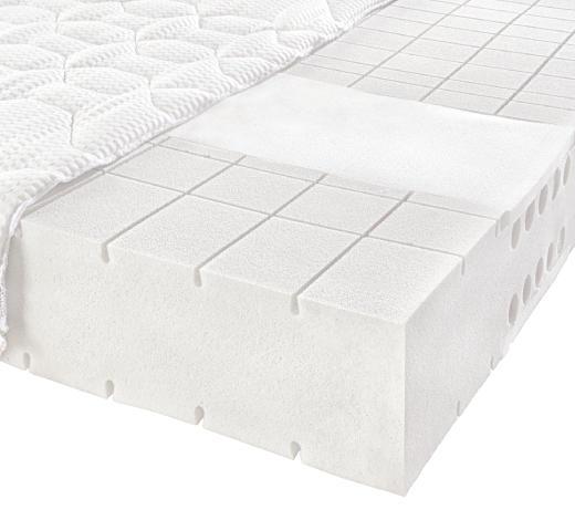 KALTSCHAUMMATRATZE 100/200 cm - Weiß, Basics, Textil (100/200cm) - Novel