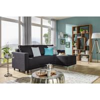 WOHNLANDSCHAFT in Anthrazit Textil - Anthrazit/Silberfarben, Design, Kunststoff/Textil (215/145cm) - CARRYHOME