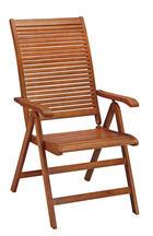 ZAHRADNÍ SKLÁPĚCÍ ŽIDLE - hnědá, Lifestyle, dřevo (60/110/70,5cm) - Ambia Garden